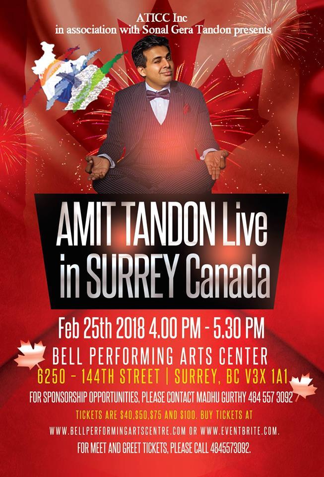 Amit Tandon live in Surrey